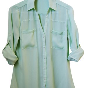 Express Button Down Shirt Seafoam Green
