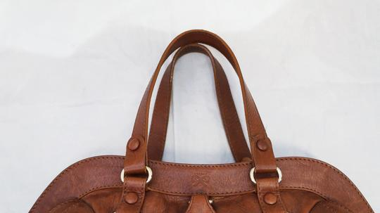 Anya Hindmarch Leather Rare Resin Stone Embellished Tote Purse Handbag Italy Designer Hobo Bag