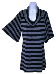 Ruby Rox short dress Black and Gray Bold Stripe on Tradesy