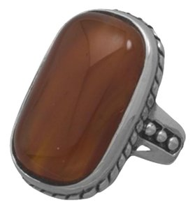 Other Sterling Silver Oxidized Carnelian Ring (sizes 6-10)