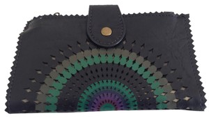 Desigual Desigual embroidered openwork butterfly wallet