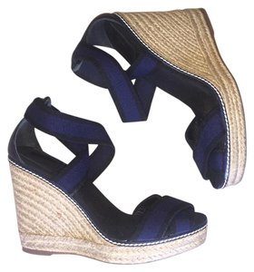 Tory Burch Navy & black Wedges