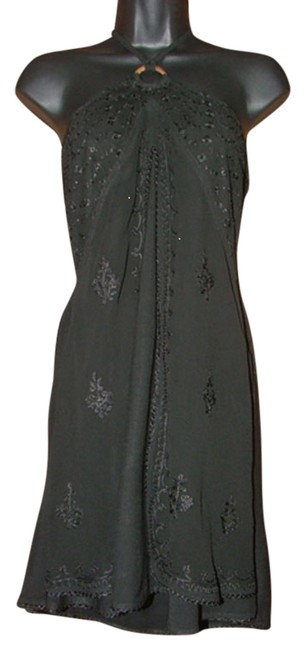 Item - Black Highway Bohemian Hippie Vibe New Embroidered Osfm Halter Top Size OS (one size)