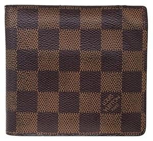 Louis Vuitton LOUIS VUITTON Signature Damier LV Monogram Unisex Wallet