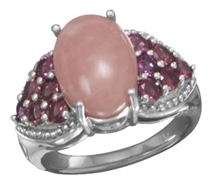 Other Rhodolite and Pink Opal Ring (sizes 6-9)