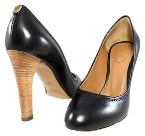 Chlo Pump Leather Classic Logo Black Pumps