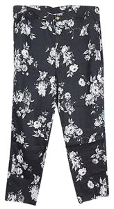 Soft Surroundings Black Floral Stretch Skinny Sizes 18 Skinny Jeans