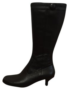 Kenneth Cole Kitten Heel Black Boots