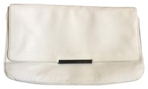 Zara White Clutch