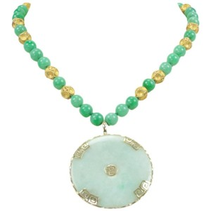 Jade Gold Pendant Necklace