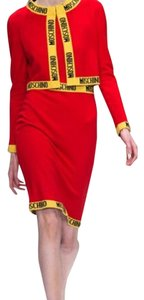 Moschino short dress Red and yellow on Tradesy