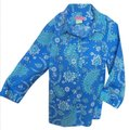 Carson Kressley Button Down Shirt Blue Multi