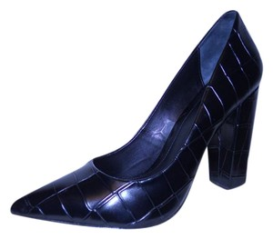 Brian Atwood Leather Croc black Pumps