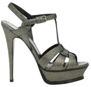 Saint Laurent Gun metal grey Sandals