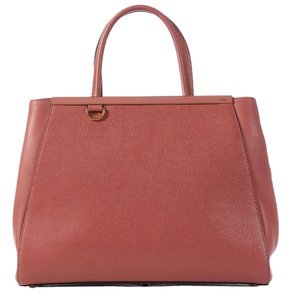 Fendi Fi.k0407.07 Pink Saffiano Vitello Leather Tote