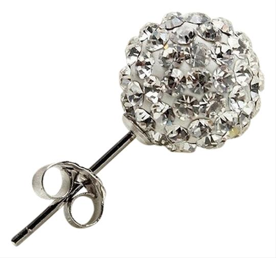 Other Austrian Crystal 8mm Ball Silver Earrings butterfly back - Shipping included
