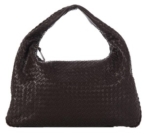 Bottega Veneta Bv.k0407.10 Brown Woven Leather Hobo Bag
