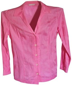 Liz Claiborne Bright Professional Formal Top Brilliant Pink