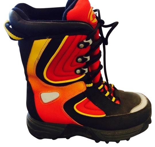 Other Multi Color Lace Up black orange and red Athletic