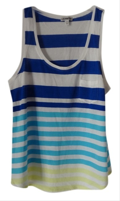 Express Top Blue White Yellow
