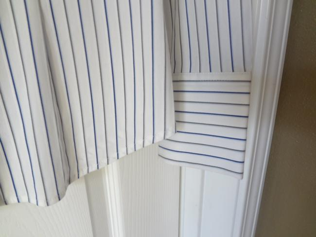 Express Button Down Shirt NEW White and Blue Striped