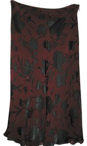 The Limited Skirt Burgandy / Black