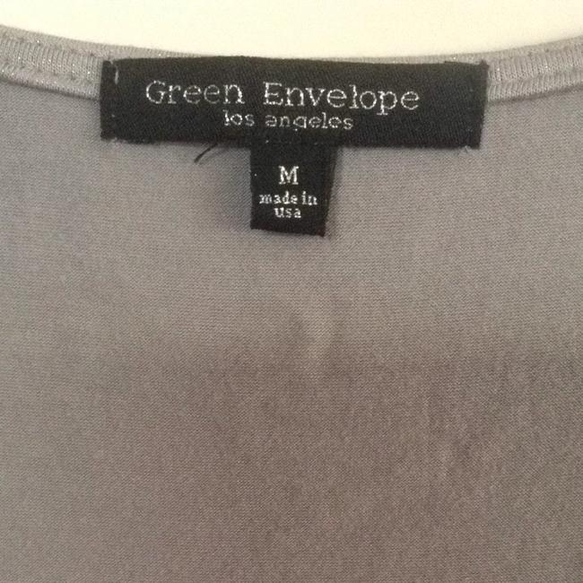 Green Envelope T Shirt Gray & Silver Metallic