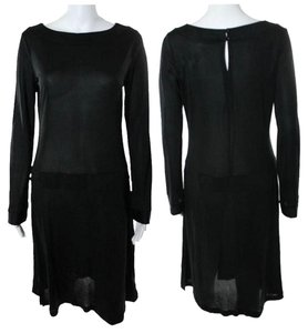 Nieves Lavi short dress Black Silk Jersey Longsleeve Drop Waist on Tradesy