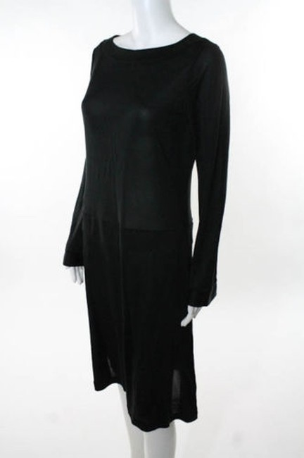 Nieves Lavi short dress Black Silk Jersey Longsleeve Drop Waist on Tradesy Image 1