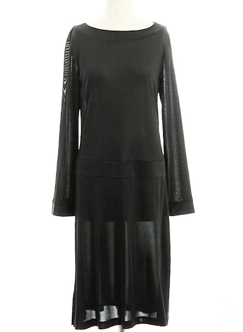 Nieves Lavi short dress Black Silk Jersey Longsleeve Drop Waist on Tradesy Image 2