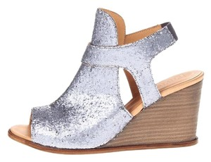 Maison Margiela Glitter Mm6 Wedge Silver Wedges