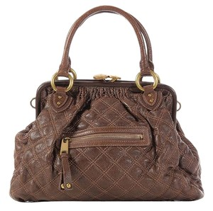 Marc Jacobs Quilted Brass Suede Mj.k0406.02 Shoulder Bag