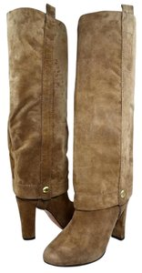 Joan & David Suede Logo Light Brown Boots