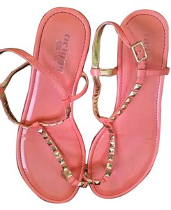 twiggy LONDON Studded Coral Sandals