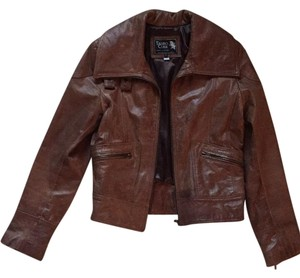 Tauro Cuer Camel Leather Jacket