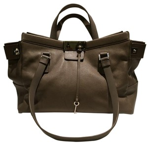 Jimmy Choo Satchel in Khaki Grey