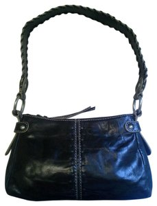 Franklin Covey Leather Handbag Braided Shoulder Bag