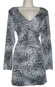 JTB Leopard Top Black & Grey