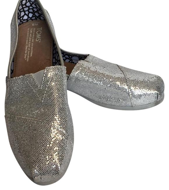 Item - Metalic Silver Flats Size US 8 Extra Wide (Ww, Ee)