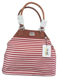 Gianfranco Ferre Tote in red, white, camel
