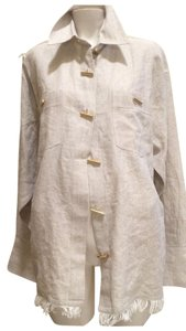 Andrea Jovine Button Down Shirt Beige