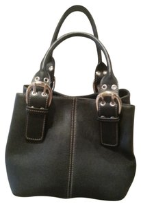 Tignanello 2 Handle Pebbled Leather Satchel in Brown