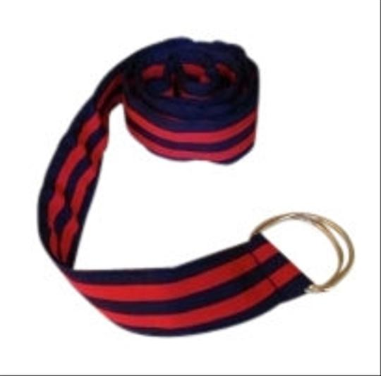 J.Crew Grosgrain Ribbon belt navy/red