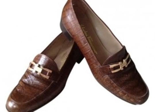 Preload https://item4.tradesy.com/images/salvatore-ferragamo-brown-reptile-flats-size-us-9-15328-0-0.jpg?width=440&height=440
