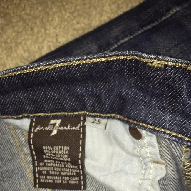 7 For All Mankind Boot Cut Pants blue