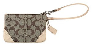 Coach Wristlet in Tan/Khaki