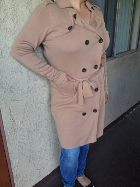 CAbi Double Breasted Soft Medium Clothing Casual Dressy Cute Trench Coat