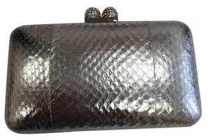 Serpui Evening Evening Formal Silver Clutch
