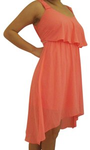BCX short dress Peach Pink Chiffon Hi-low Summer Spring on Tradesy