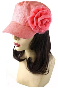 Other Pink Coral Flower Accent Fashion Statement Cap